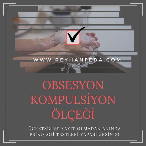 Obsesif Kompulsif Bozukluk Testi, obsesif kompulsif belirtileri ölçmek üzere kullanılır.