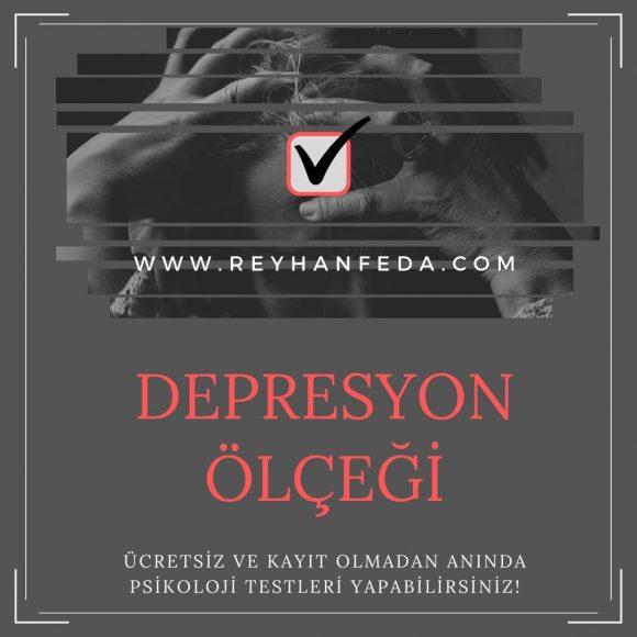 Beck depresyon testi, depresyon düzeyini belirlemek amacıyla kullanılır.