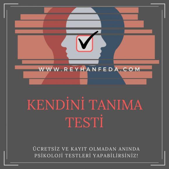 Kendini tanıma testi, bireyin kendini ne kadar tanıdığını ölçer.