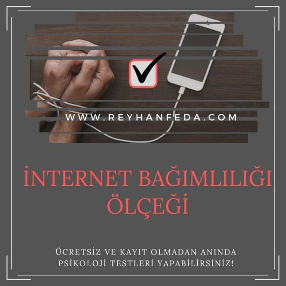 İnternet bağımlılığı testi, internet bağımlılığı belirtilerini ölçer.