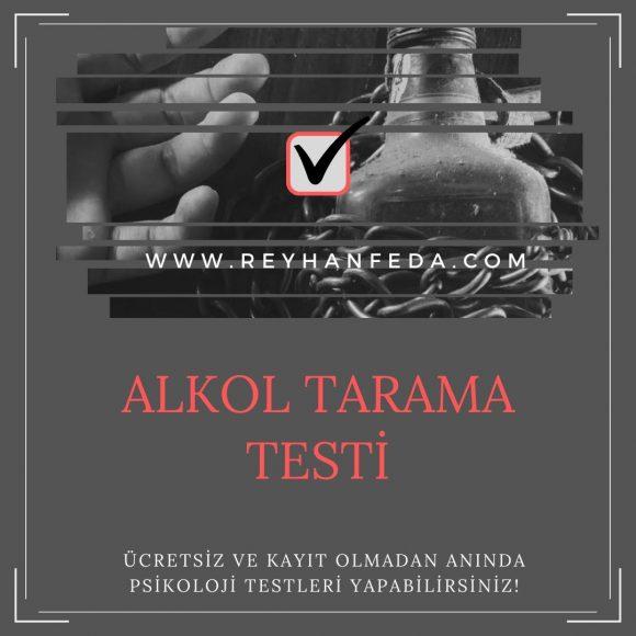 alkol bağımlılığı testi, alkole bağımlılık belirtilerini ölçer.