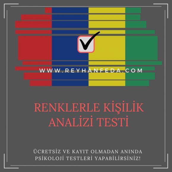 renklerle kişilik analizi testi, karaktere dair özellikleri ölçer.